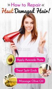 How to repair heat damaged hair at home