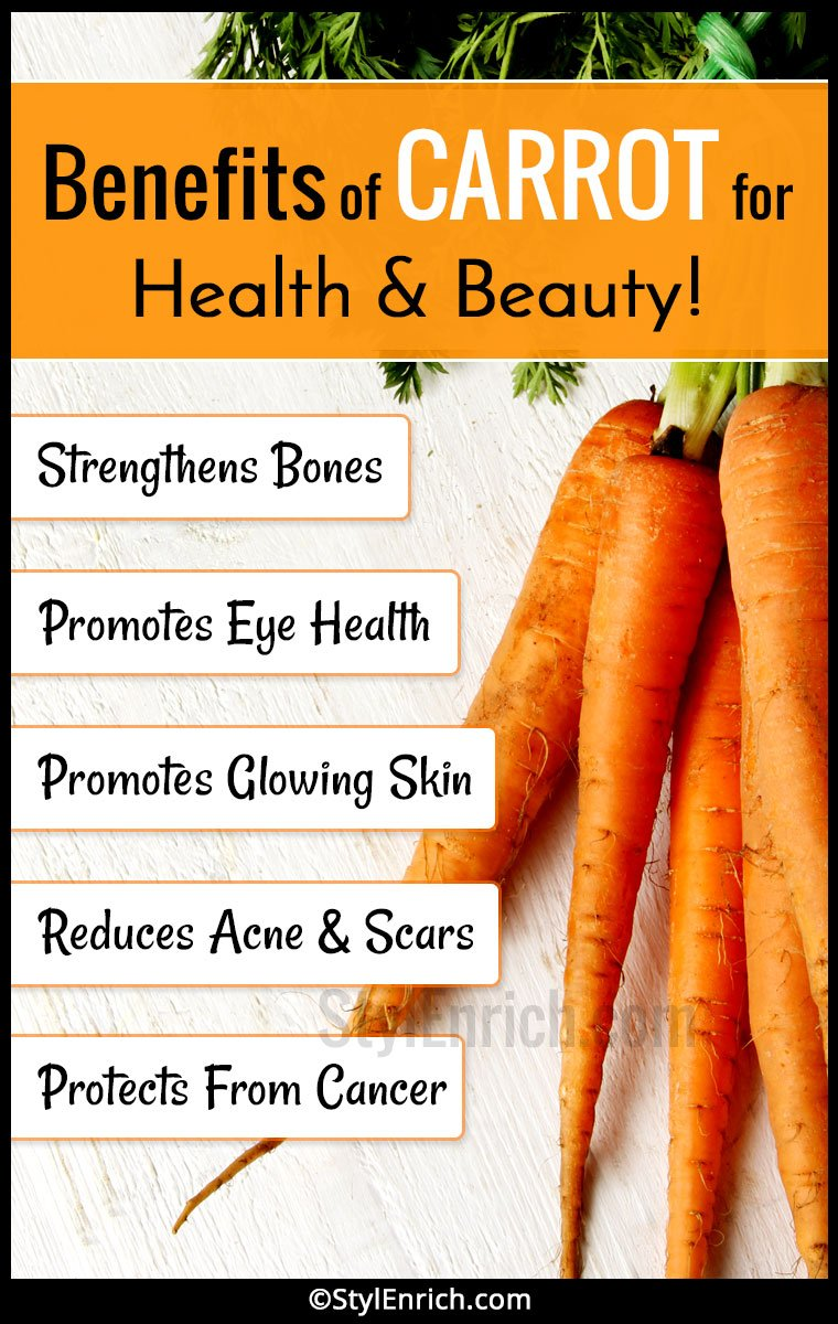 Benefits of Carrot For Health and Beauty