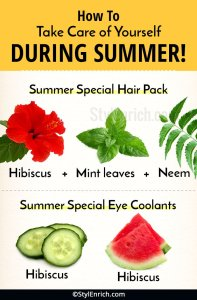 How to Take Care of Hair, Eyes and Feet During Summer?