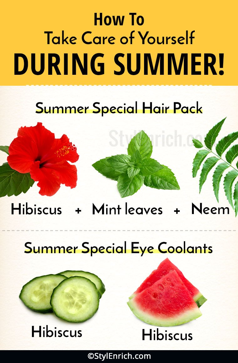 Summer Care Tips for Hair, Eyes and Feet!