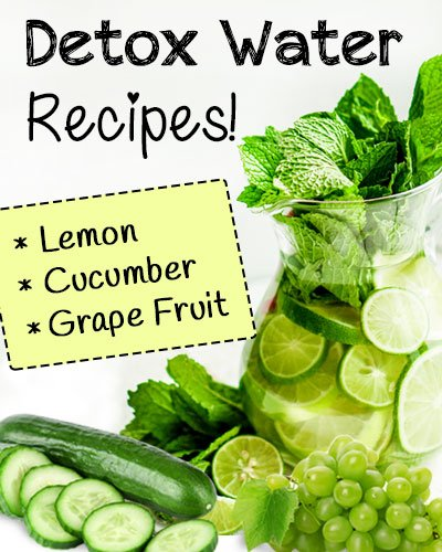 Lemon, Cucumber And Grape Fruit Detox Water