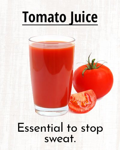 Tomato Juice To Stay Sweat-Free