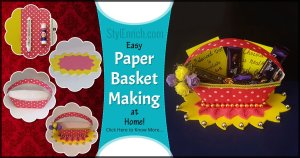 Easy Paper Making Basket at Home