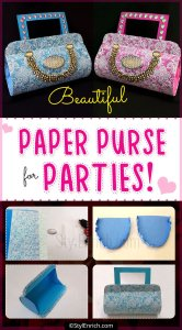 How to Make Beautiful Paper Purse for Parties?