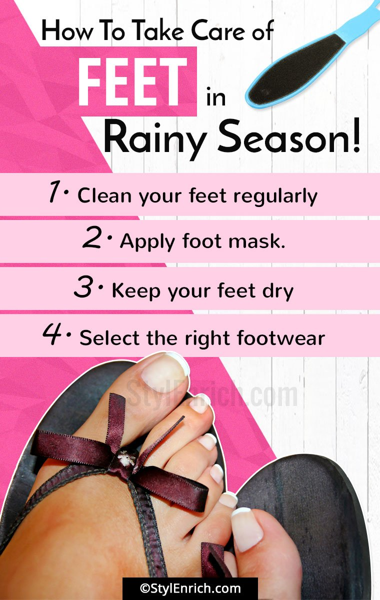 How To Take Care Of Feet In Rainy Season?