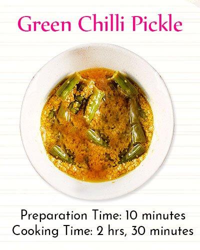 Green Chilli PickleRecipe