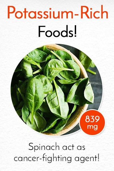 Potassium Rich Spinach