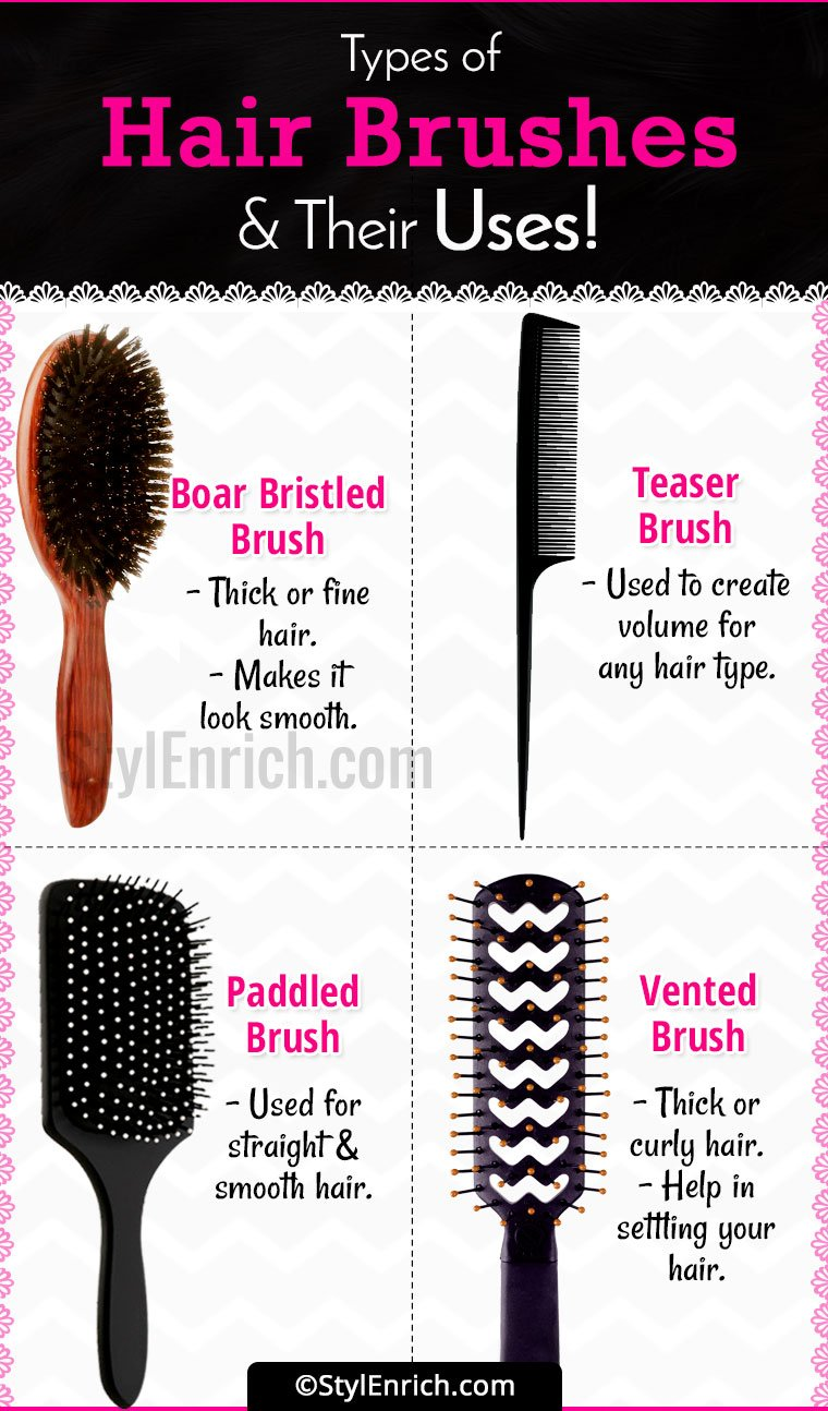 Hair brush types a complete guide to hair brushes and its uses hair brush types and their uses urmus Choice Image