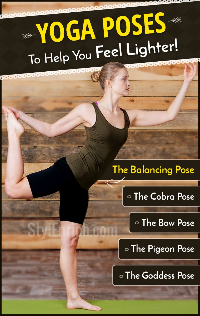 Yoga Poses to Help You Feel Lighter