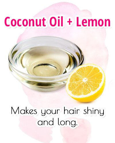 Coconut Oil With Lemon For Premature Gray Hair