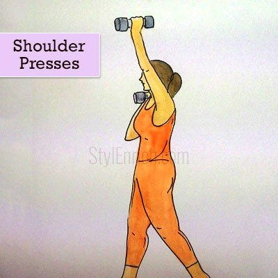 Shoulder Presses For Arm Fat