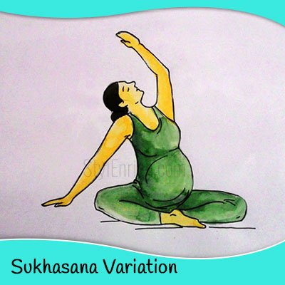 Sukhasana yoga for pregnant women