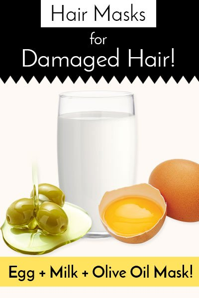 Egg Hair, Milk And Olive Oil Hair Mask