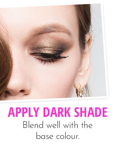 Application Of Dark Eye Shadow