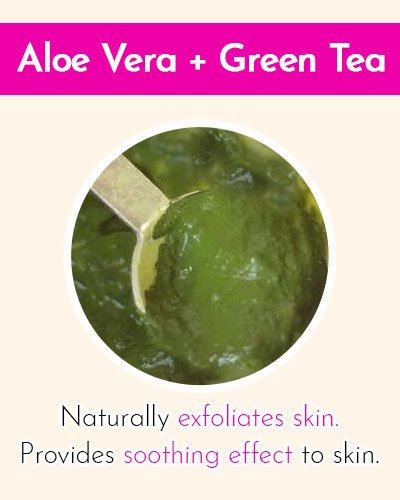 Green tea & Aloe-Vera Face Mask
