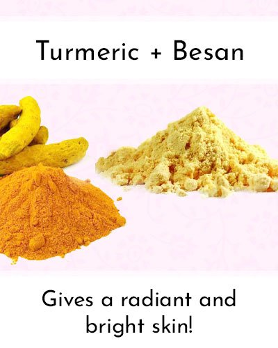 Turmeric With Besan To Shrink Pores
