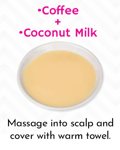 Grow Your Hair Long With Coffee And Coconut Milk