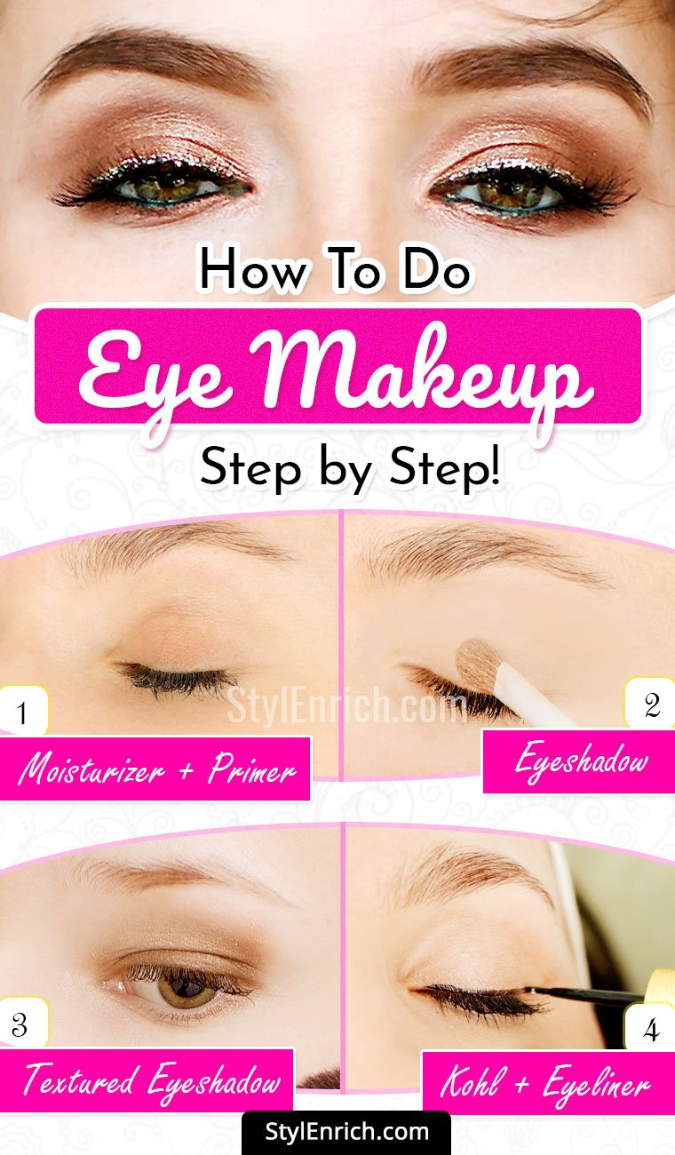 Natural Eye Makeup Tutorial How To Apply Eye Makeup Step By Step