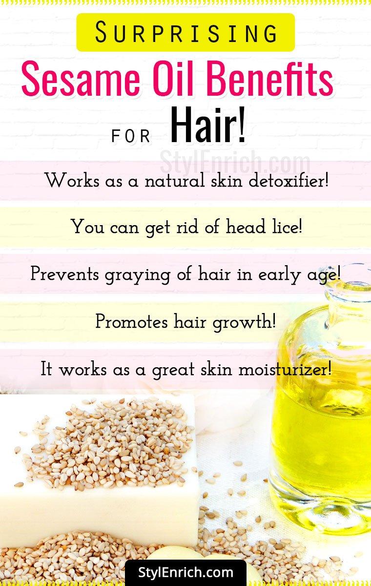 Benefits Of Sesame Oil for Hair