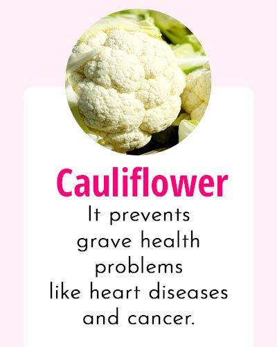 Cauliflower - Biotin Rich Food