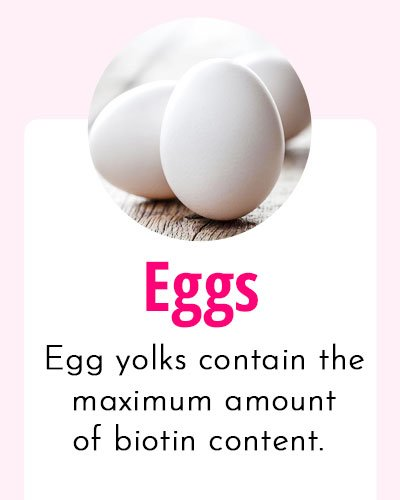 Eggs - Biotin Rich Food