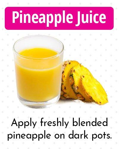 Pineapple Juice for Dark Spots