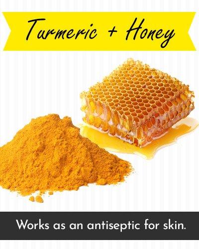 Honey & Turmeric Face Mask For Acne