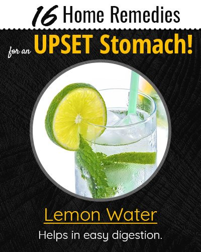 Lemon Water For Upset Stomach