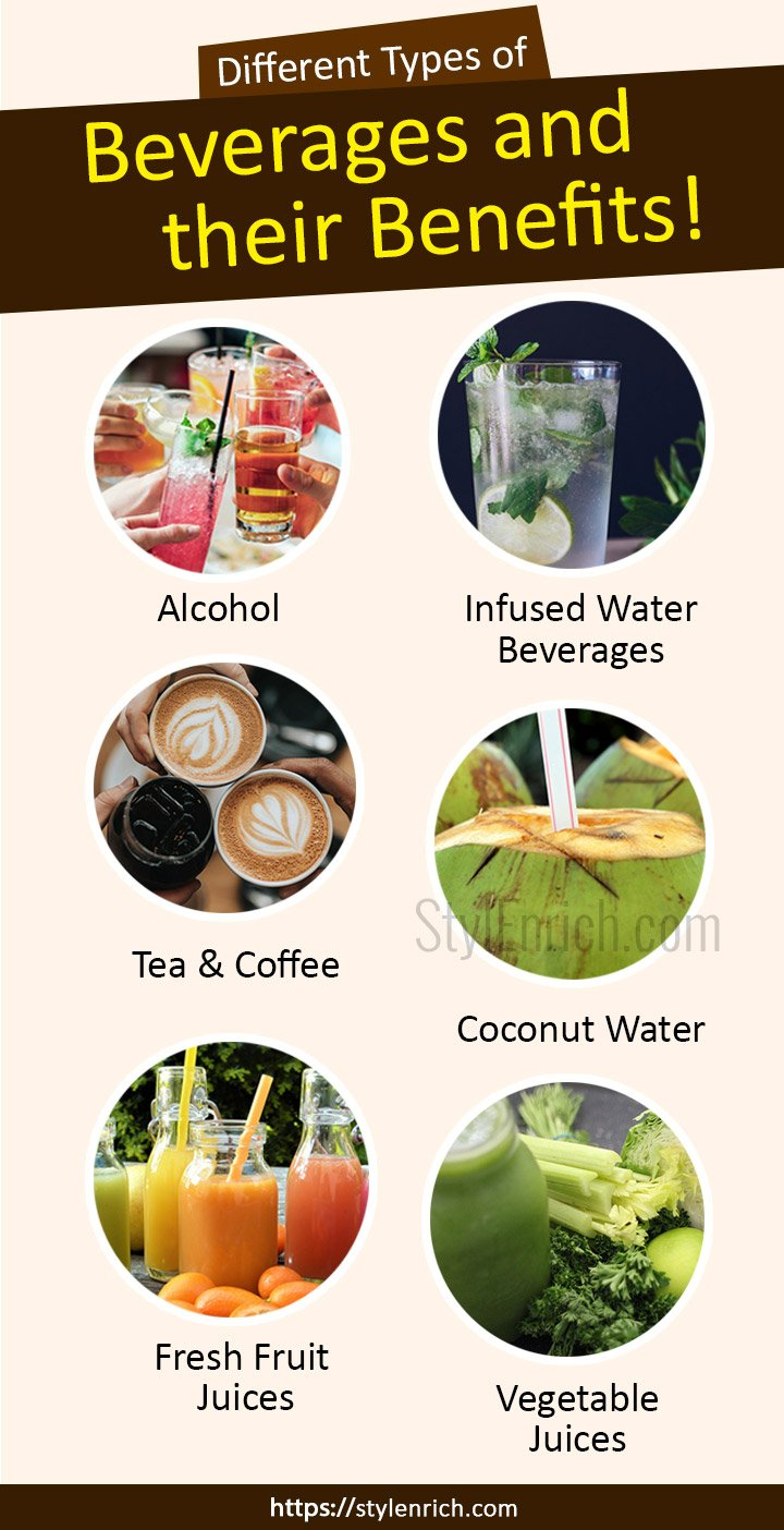 Different types of Beverages and their Benefits