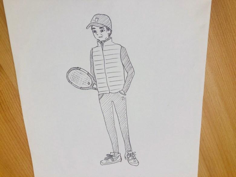 japanese tennis fan ojisan outfit