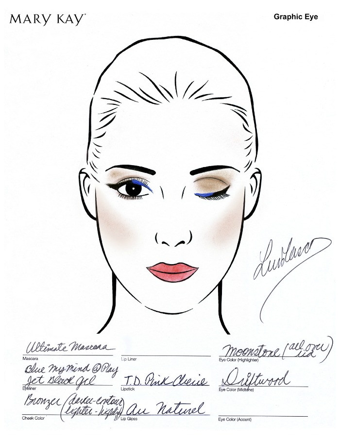 Get the Look: Graphic Blue Cats Eye from Project Runway
