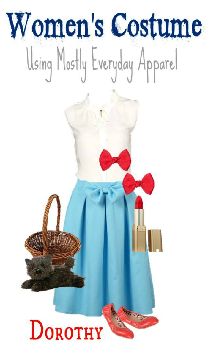 DIY Dorothy from Wizard of Oz Halloween Costume for Adults
