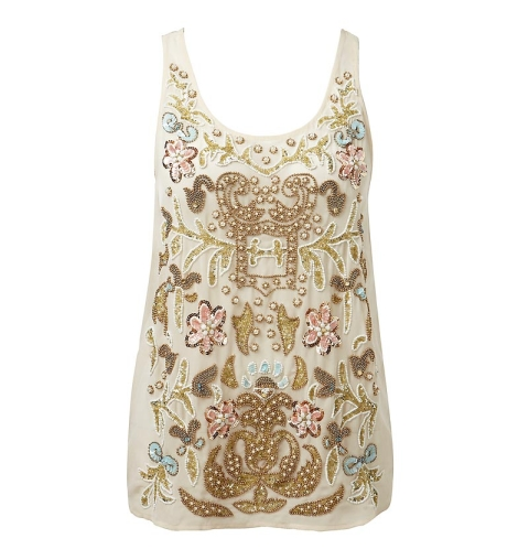 fashion trends, feminine fashion, forever 21, forever new, high street fashion, river island, romantic style, spring/summer 2013 fashion trends, topshop, valentine's day style, summer vest, sequins