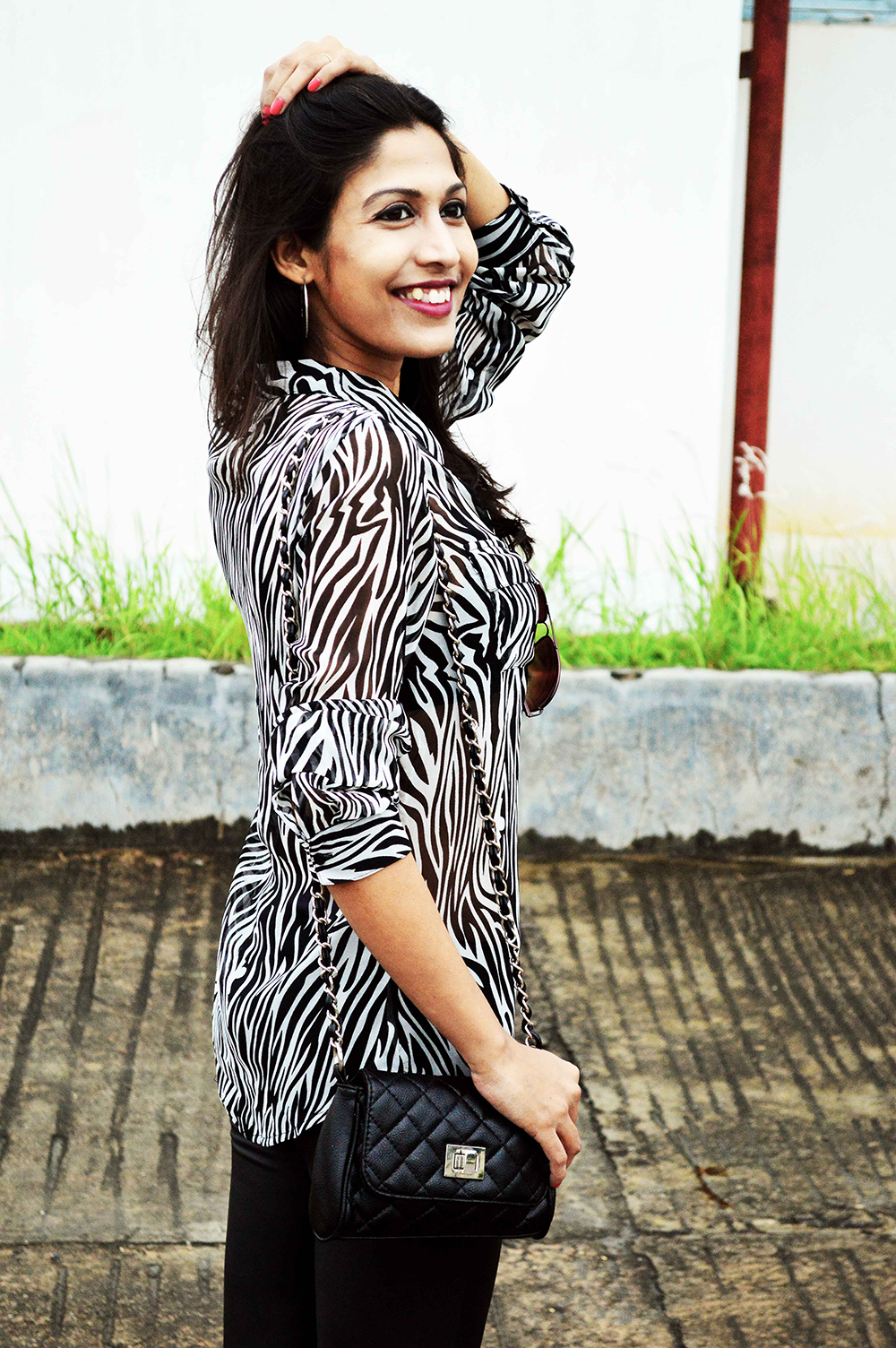 Fashion, Style, Indian Fashion Blogger, Fashion Blogger, Photography, Fashion Photography, Animal Prints, Street Style, Zebra Printed Shirt 2
