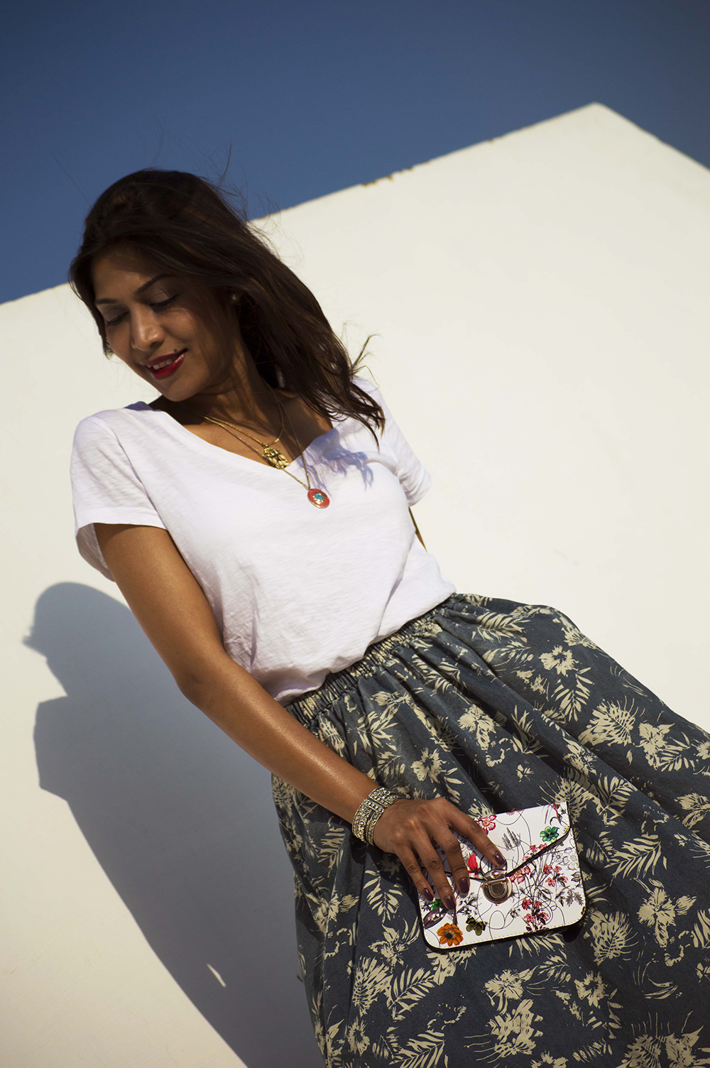 Fashion, Style, Indian Fashion Blogger, Street Style, Summer fashion, printed midi skirt style, Printed denim skirt, photography, style over coffee-5