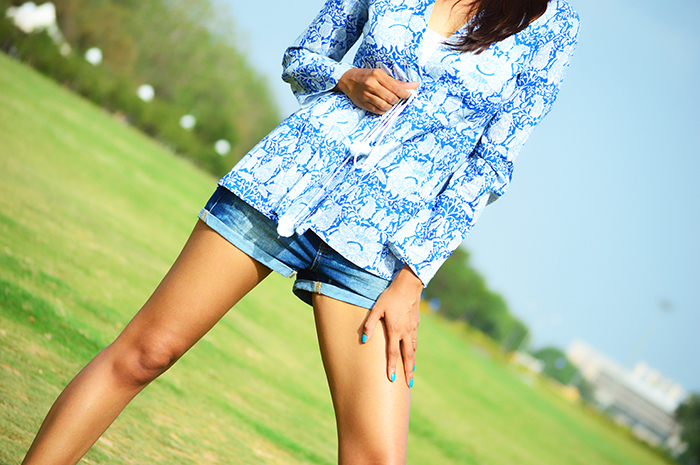 Fashion, Style, Fashion Photography, Street Fashion, Fashion Blogger, Casual wear, Indian Fashion Blogger, Summer Fashion, Top from Jabong, Mango Denim Shorts, Miss Bennett heels, Street Style, Miss Bennett London, Mango Fashion, Outfit of the day, Personal Style Blog