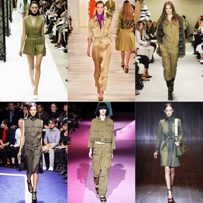 Fashion, Style, Fashion Magazine, Spring Summer 2015 Fashion Trends, Runway Fashion Trends, Spring/Summer 2015 Runway styles, Summer Fashion, Fashion Designers, Ready To Wear Runway Fashion, military style, military fashion