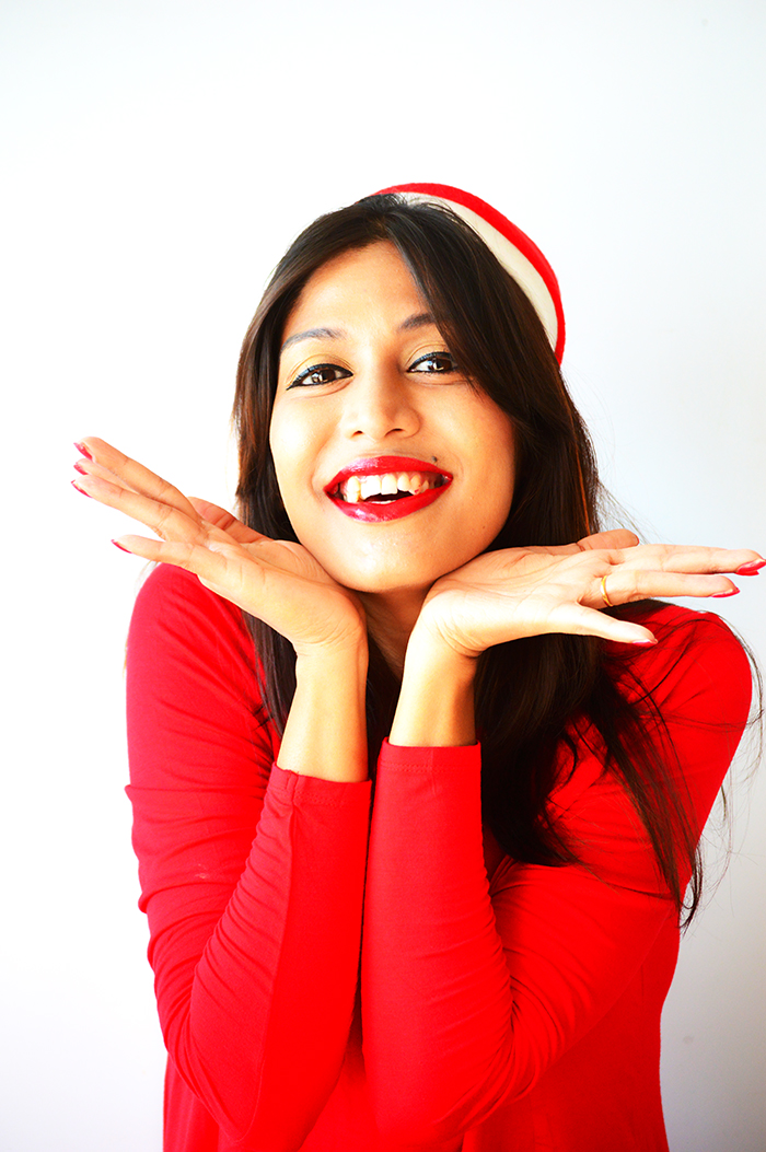 Fashion, Style, Fashion Photography, Street Style, Fashion Blogger, Indian Fashion Blogger, Style Over Coffee, Indian Fashion Blog, Photography, Merry Christmas, Holiday Season, Red Dress, Santa Cap