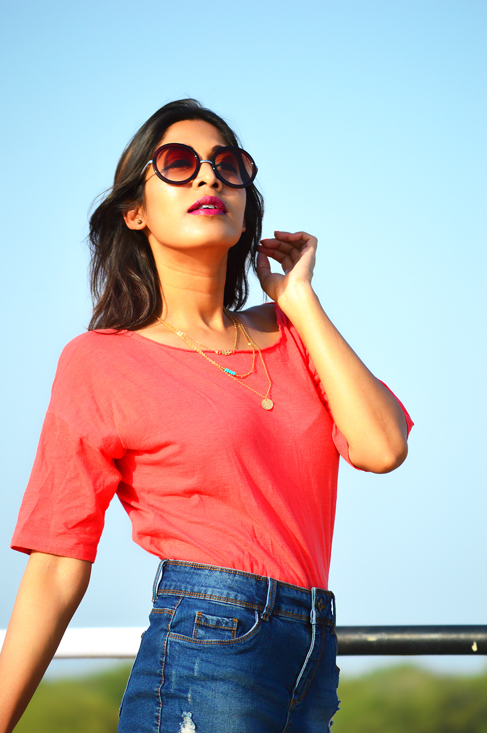 Fashion, Style, Fashion Photography, Street Style, Fashion Bloggers, Indian Fashion Bloggers, Denim Style, Outfit Of the Day, Retro Sunglasses, Lifestyle Blog- 6