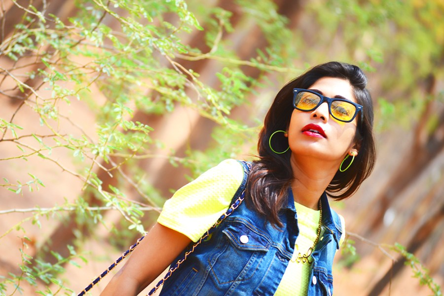 Fashion, Style, Street Style, Summer Fashion, Fashion Photography, Yellow Dress, Denim Vest, Sling Bag, Fashion Blogger, Indian Fashion-4