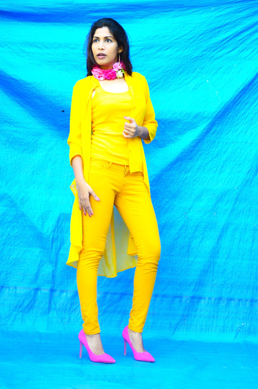 Fashion, Style, Street Style, Fashion Photography, Summer Fashion, Indian Fashion Blogger, Fashion Blogger, Yellow Shrug, Yellow Outfit, Summer Colours, Style Over Coffee, Beauty-3