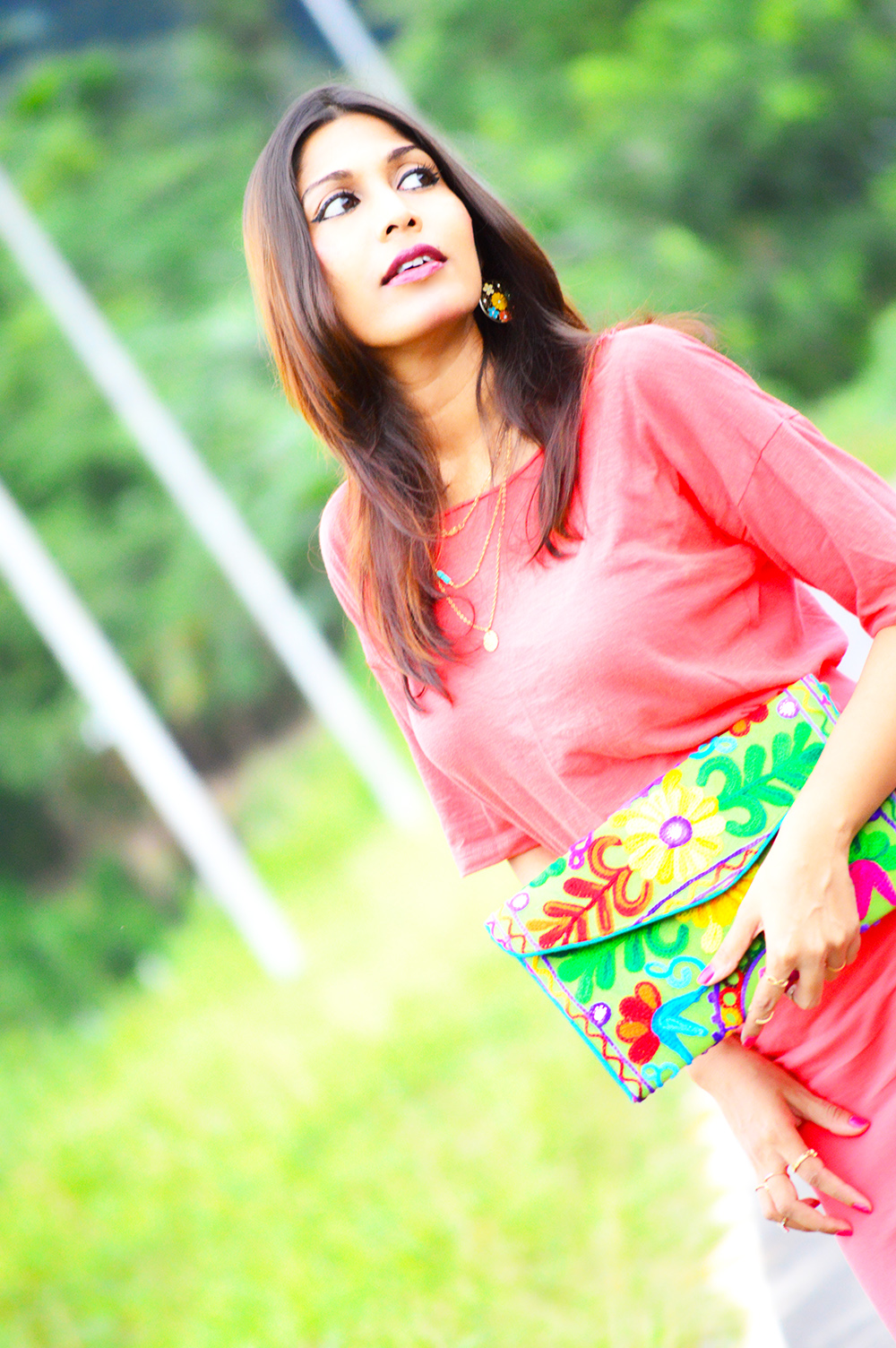 Fashion, Style, Indian Fashion Blogger, Street Style, Fashion Photography, Pencil Skirt, Beauty, Handmade Fashion, Peach Style, Peach Pencil Skirt-3