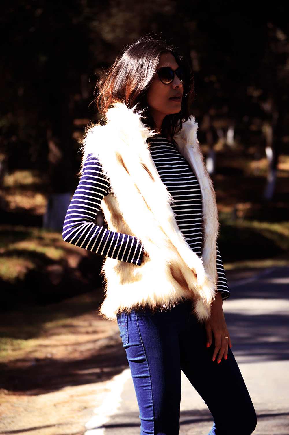 Fashion, Style, Winter Fashion, Street Style, Shillong, Fur, Faux Fur Vest, Photography, Travel-1