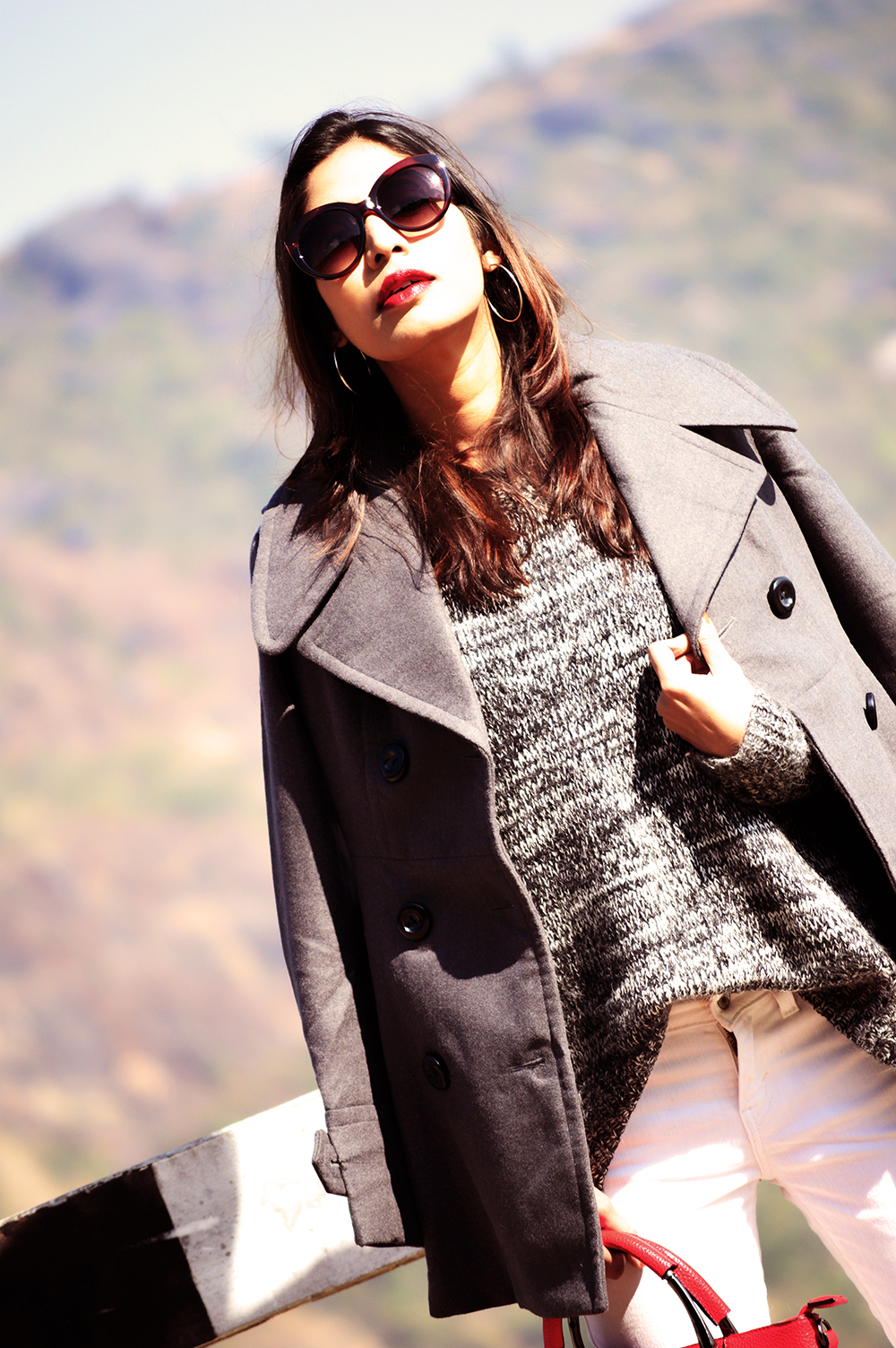 Fashion, Style, Grey Outfit, Vacation Style, Photography, Indian Fashion Blogger, Street Style, Winter Fashion, Grey Coat- 5