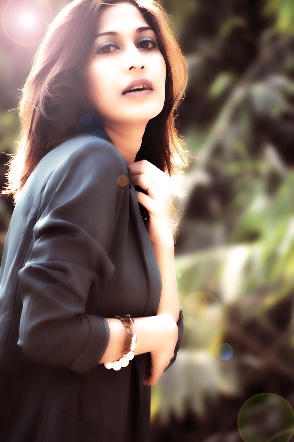 Fashion, Style, Greenery, Black dress, LBD, Indian Fashion Blogger, Beauty, Photography-3