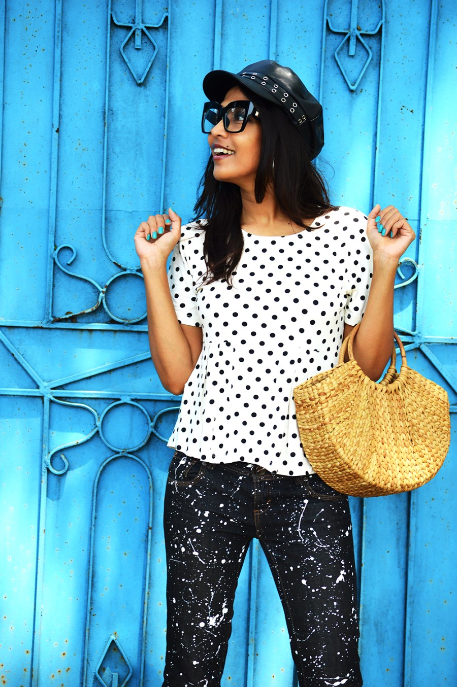 Fashion, Style, Polka Dots, DIY, Do It Yourself, Denim, Photography, Indian Fashion Blogger-5