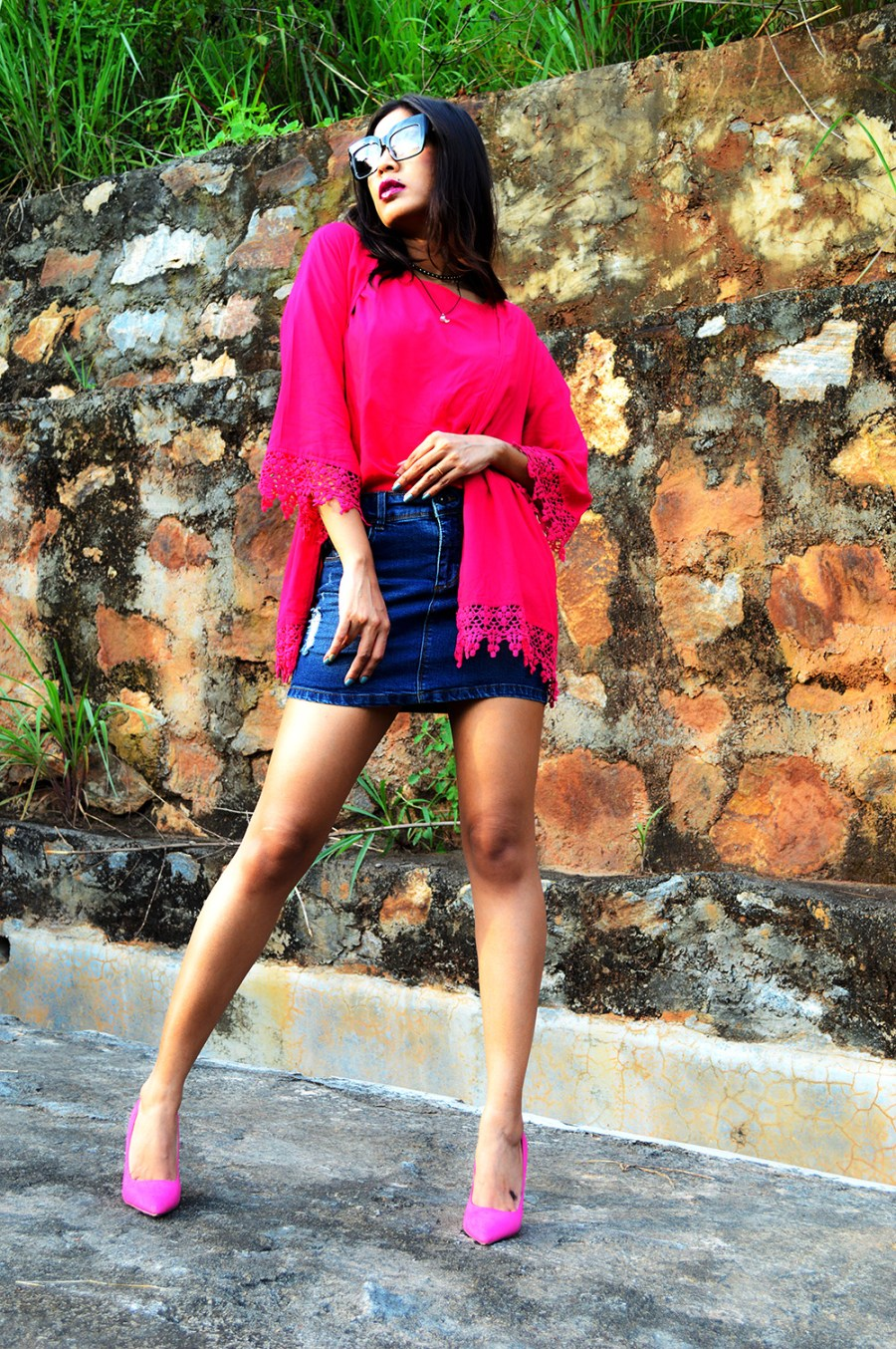 Fashion, Fuchsia Pink, Style, Street Style, Fashion Blogger, Beauty, Indian Fashion Blogger, Indian Street Style, Photography-1,