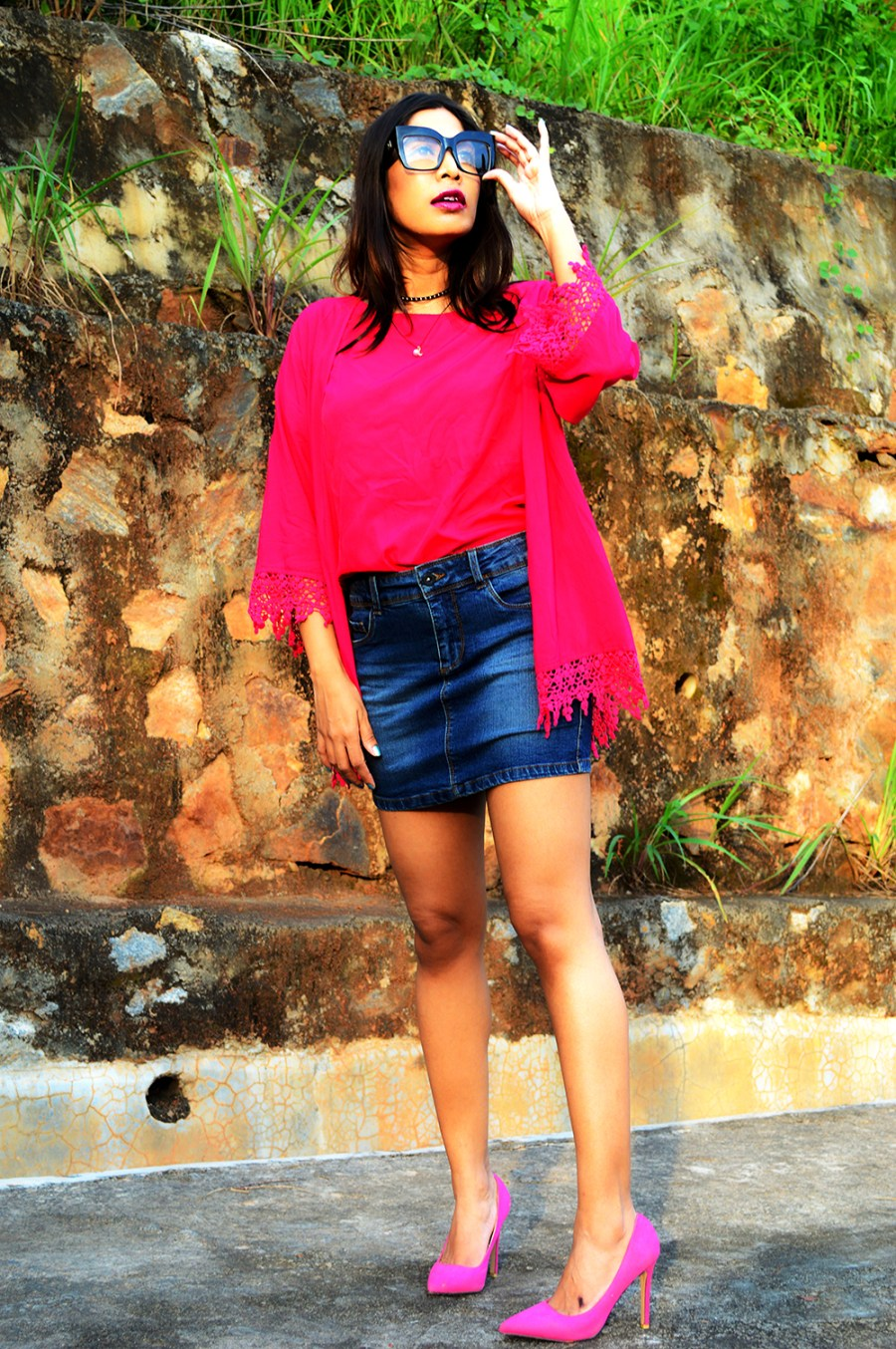 Fashion, Fuchsia Pink, Style, Street Style, Fashion Blogger, Beauty, Indian Fashion Blogger, Indian Street Style, Photography-5