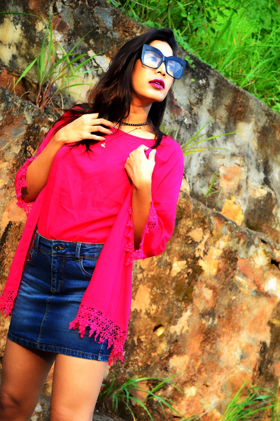 Fashion, Fuchsia Pink, Style, Street Style, Fashion Blogger, Beauty, Indian Fashion Blogger, Indian Street Style, Photography-7