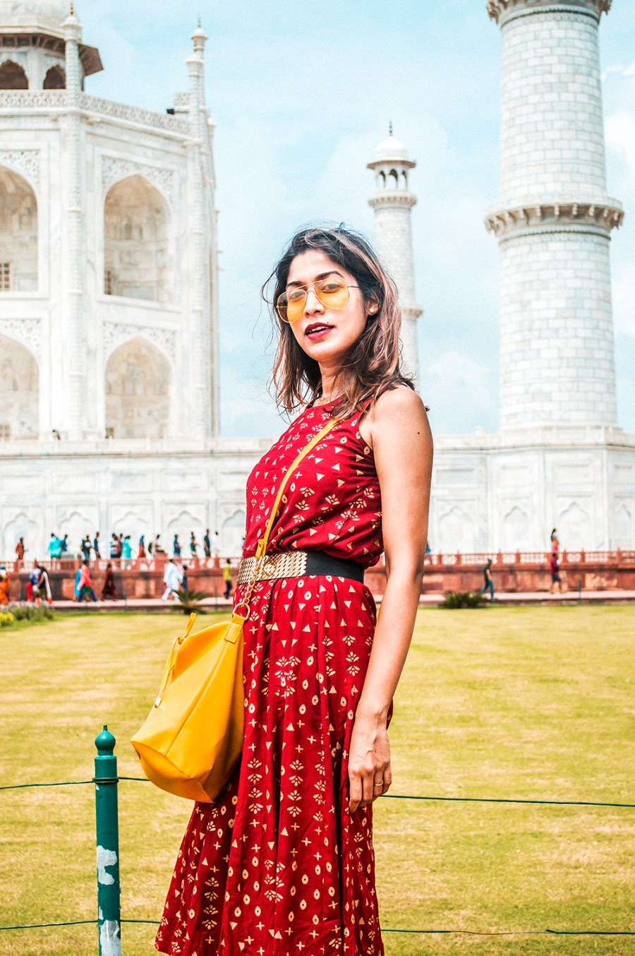 Style Over Coffee, Taj Mahal, Travel, India, Fashion Blogger, Influencer, Ethnic Dress, Sarmistha Goswami, Indian Blogger, Maroon Dress-2